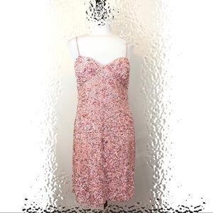 Aiden Mattox Pink Sequined Dress, Size 12